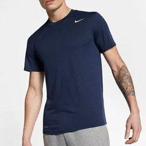 Nike   Blue Dri-Fit Athletic Cut Crew Neck T Shirt